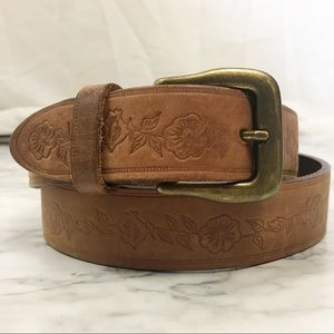 Northern Reflections Italian Pressed Leather Belt